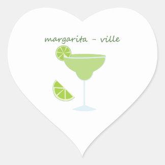 Margarita-ville Heart Sticker