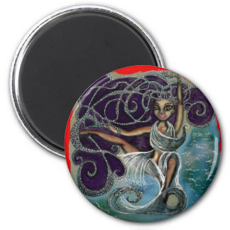 Margarita wrapped in the Eternal Waters 6 Cm Round Magnet