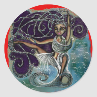 Margarita wrapped in the Eternal Waters Classic Round Sticker