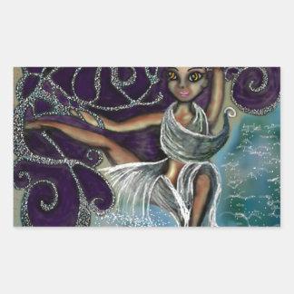 Margarita wrapped in the Eternal Waters Rectangular Sticker