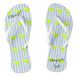 Margaritas And Limes Fiesta Party Flip Flops