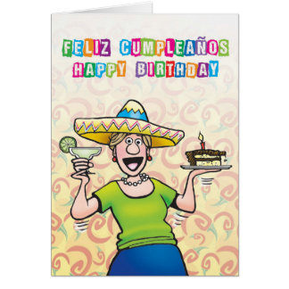 """Margaritas and Mariachis"" Card"