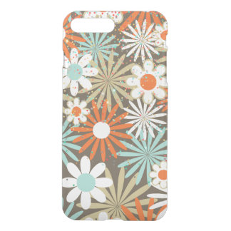 Margerite Floral Turquoise Brown Pastel Spring iPhone 8 Plus/7 Plus Case
