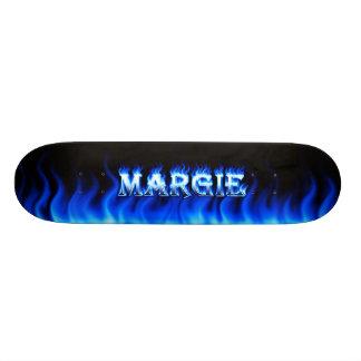 Margie blue fire Skatersollie skateboard.