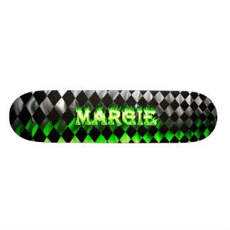 Margie green fire Skatersollie skateboard
