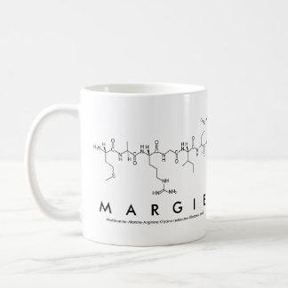 Margie peptide name mug basic white mug
