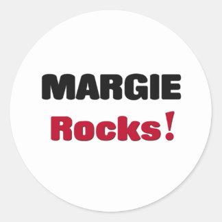 Margie Rocks Round Stickers