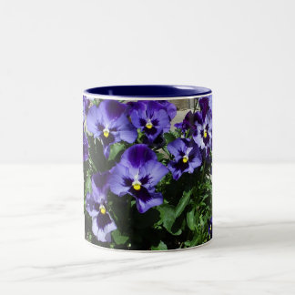 Margie's Pansies Two-Tone Coffee Mug