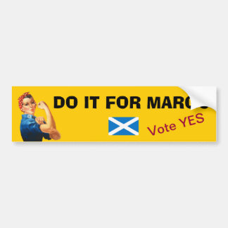Margo MacDonald Tribute Scottish Independence Bumper Sticker