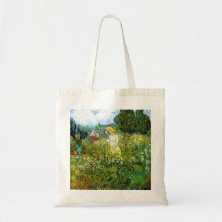 Marguerite Gachet in the Garden by van Gogh Tote Bags