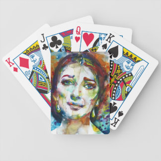 MARIA CALLAS - watercolor portrait.2 Bicycle Playing Cards