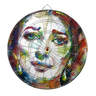 MARIA CALLAS - watercolor portrait.2 Dartboard