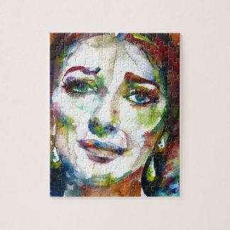 MARIA CALLAS - watercolor portrait.2 Jigsaw Puzzle