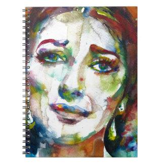 MARIA CALLAS - watercolor portrait.2 Notebooks