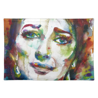 MARIA CALLAS - watercolor portrait.2 Placemat
