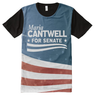 Maria Cantwell All-Over Print T-Shirt