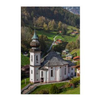 Maria Gern Village Church, Bavaria Acrylic Wall Art