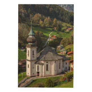Maria Gern Village Church, Bavaria Wood Wall Art