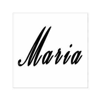 Maria, Girls Name Logo On A Self-inking Stamp