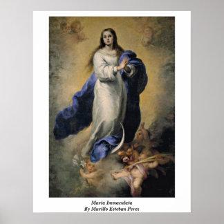 Maria Immaculata By Murillo Esteban Perez Poster