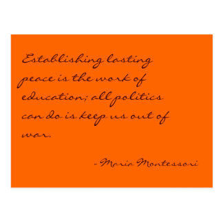 Maria Montessori Quote No. 3 Post Card