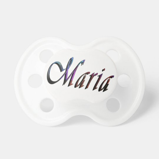 Maria, Name, Logo, Baby's White Pacifier
