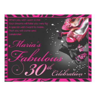 Maria s Fabulous 30th Custom Invites
