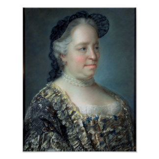 Maria Theresa, Empress of Austria, 1762 Poster