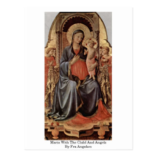 Maria With The Child And Angels By Fra Angelico Postcard