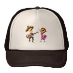 Mariachi Dancing Couple Day of the Dead Mesh Hats