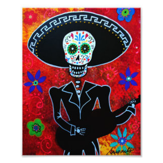 Mariachi Day of the Dead Painting Art Photo