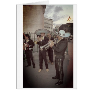 Mariachi in Madrid Card All Occassions