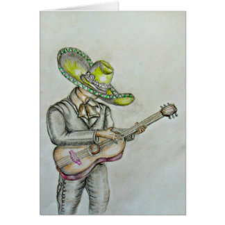 Mariachi with guitar card