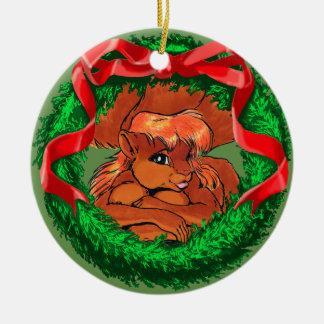 Mariah the Squirreltaur Ceramic Ornament
