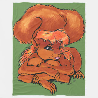Mariah the Squirreltaur Fleece Blanket