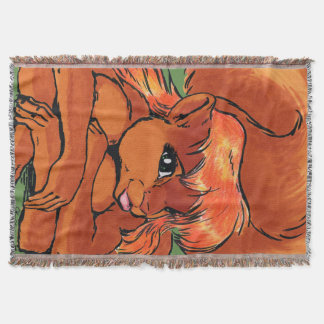 Mariah the Squirreltaur Throw Blanket