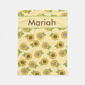 Mariah''s Personalized Sunflower Blanket