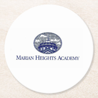 Marian Heights Academy Logo Round Paper Coaster