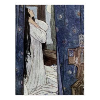Mariana, Poem by Alfred Lord Tennyson, Postcard