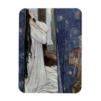 Mariana, Poem by Alfred Lord Tennyson, Rectangular Photo Magnet