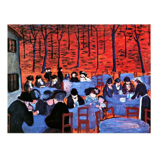 Marianne von Werefkin - Beer Garden Postcard