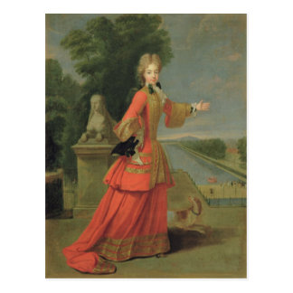 Marie-Adelaide de Savoie  in Hunting Dress Postcard