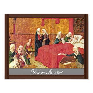 Marie Altar Middle Panel Top Left: Birth Of The Vi 11 Cm X 14 Cm Invitation Card