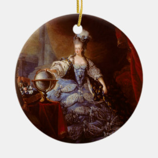 Marie Antoinett of Austria by Jean Baptiste Dagoty Ceramic Ornament