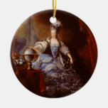 Marie Antoinett of Austria by Jean Baptiste Dagoty Christmas Ornaments