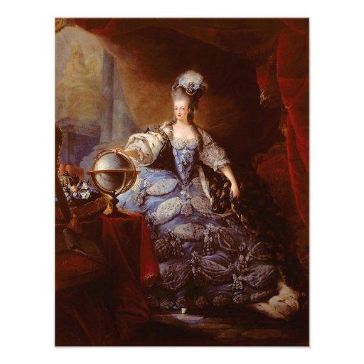 Marie Antoinett of Austria by Jean Baptiste Dagoty Personalized Invite
