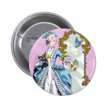Marie Antoinette and Bluebird Pins
