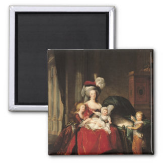 Marie-Antoinette  and her Children, 1787 Square Magnet
