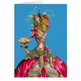 Marie Antoinette and Peacock Cards
