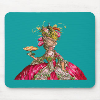 Marie Antoinette and Peacock Mousepad